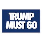 Trump Must Go Sticker