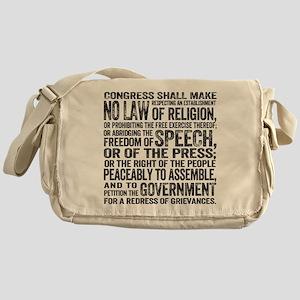 First Amendment Messenger Bag