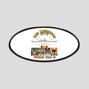USS Missouri - WWII w SVC Ribbons Patch