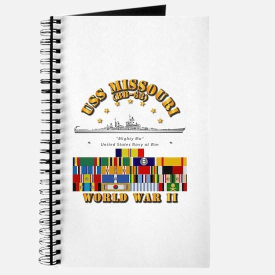 USS Missouri - WWII w SVC Ribbons Journal