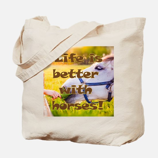 Funny Life is good horse Tote Bag