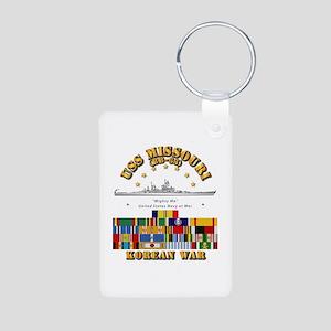 USS Missouri - Korean War Aluminum Photo Keychain