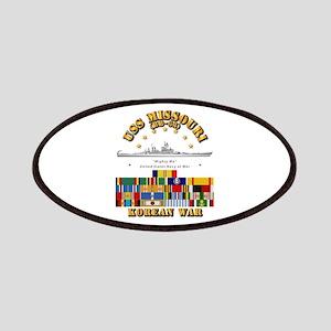 USS Missouri - Korean War w SVC Ribbons Patch