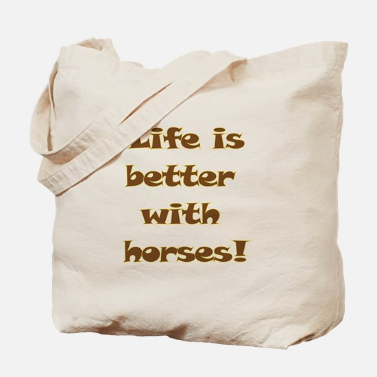 Unique Life is good horse Tote Bag