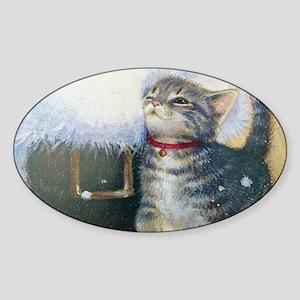 Kitten at Santa's Boot Sticker