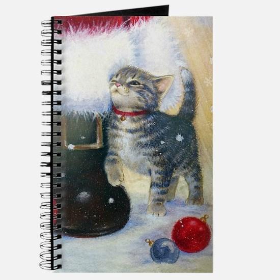 Kitten at Santa's Boot Journal
