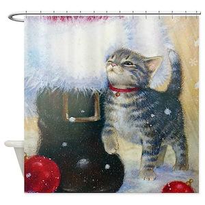 Kitten Shower Curtains