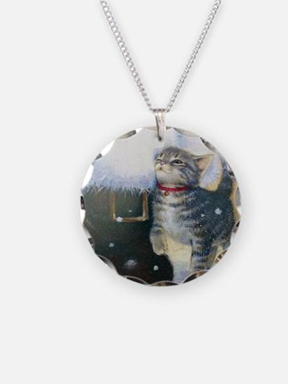 Kitten at Santa's Boot Necklace