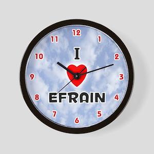I Love Efrain (Red/Blk) Valentine Wall Clock