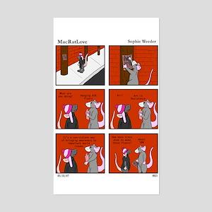 Rat is Resistance (Comic 3) Rectangle Sticker
