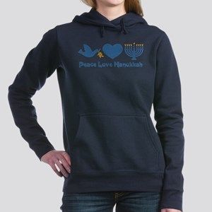 Peace Love Hanukkah Women's Hooded Sweatshirt