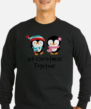 1st Christmas Together Penguin Couple T