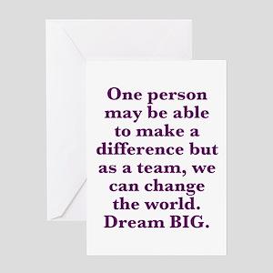 Team World Change Greeting Cards