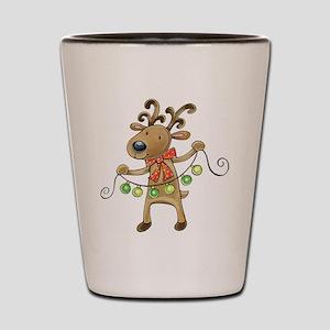 Cute Christmas reindeer Shot Glass