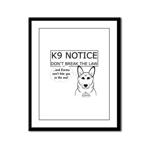 K9 Karma Framed Panel Print