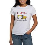 I Love Rubber Ducks Women's T-Shirt