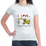 I Love Rubber Ducks Jr. Ringer T-Shirt