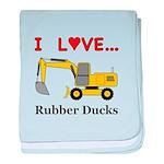 I Love Rubber Ducks baby blanket