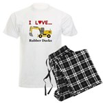 I Love Rubber Ducks Men's Light Pajamas
