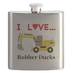 I Love Rubber Ducks Flask