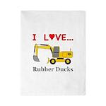 I Love Rubber Ducks Twin Duvet