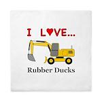 I Love Rubber Ducks Queen Duvet