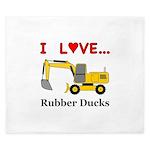 I Love Rubber Ducks King Duvet