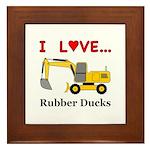 I Love Rubber Ducks Framed Tile