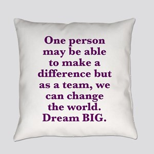 Team World Change Everyday Pillow