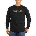 I Love Ducks Long Sleeve Dark T-Shirt