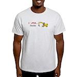 I Love Ducks Light T-Shirt