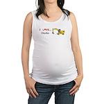 I Love Ducks Maternity Tank Top
