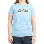 I Love Ducks Women's Light T-Shirt