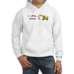 I Love Ducks Hooded Sweatshirt