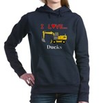 I Love Ducks Women's Hooded Sweatshirt