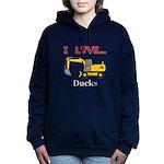 I Love Ducks Women's Hooded Sweatshirt