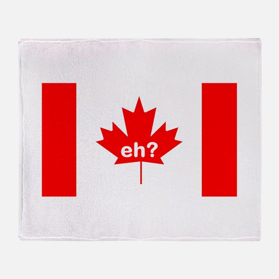 Eh? Canada Throw Blanket