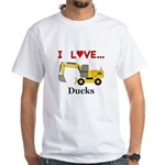 I Love Ducks White T-Shirt