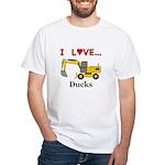 I Love Ducks White T-Shirt
