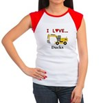 I Love Ducks Junior's Cap Sleeve T-Shirt