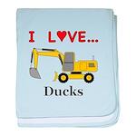 I Love Ducks baby blanket