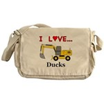 I Love Ducks Messenger Bag
