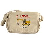 I Love Ducks Messenger Bag