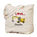I Love Ducks Tote Bag