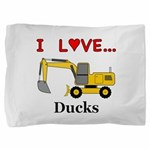 I Love Ducks Pillow Sham