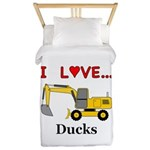 I Love Ducks Twin Duvet