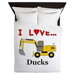 I Love Ducks Queen Duvet
