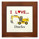 I Love Ducks Framed Tile