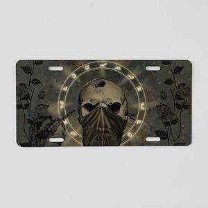 Awesome creepy skull Aluminum License Plate