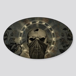 Awesome creepy skull Sticker